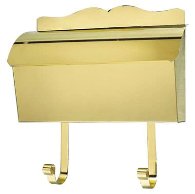 QualArc Provincial Wall Mount Roll Top Brass Mailbox