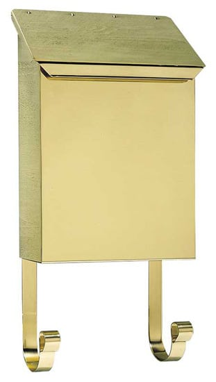 QualArc Provincial Vertical Wall Mount Brass Mailbox