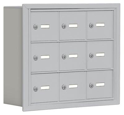 Salsbury 9 Door Cell Phone Lockers with A Doors Recessed Mount – No Master Access – 5 Inch Depth