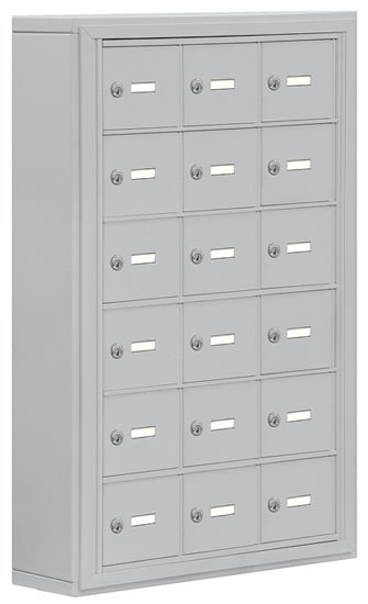 Salsbury 18 Door Cell Phone Lockers with A Doors Surface Mount – No Master Access – 5 Inch Depth