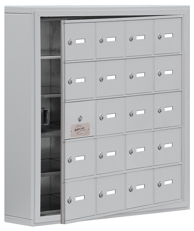 Salsbury 20 Door Cell Phone Lockers with A Doors Surface Mount – Front Master Access – 5 Inch Depth