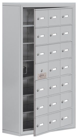 Salsbury 21 Door Cell Phone Lockers with A Doors Surface Mount – Front Master Access – 8 Inch Depth