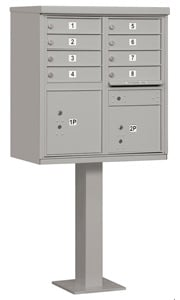 Salsbury 8 Door CBU Mailbox Gray