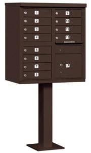 Salsbury 12 Door CBU Mailbox Bronze