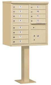 Salsbury 12 Door CBU Mailbox Sandstone