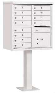 Salsbury 12 Door CBU Mailbox White