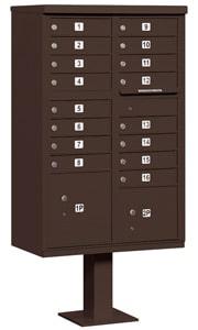 Salsbury 16 Door CBU Mailbox Bronze