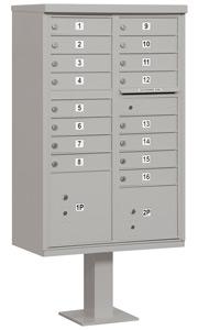 Salsbury 16 Door CBU Mailbox Gray