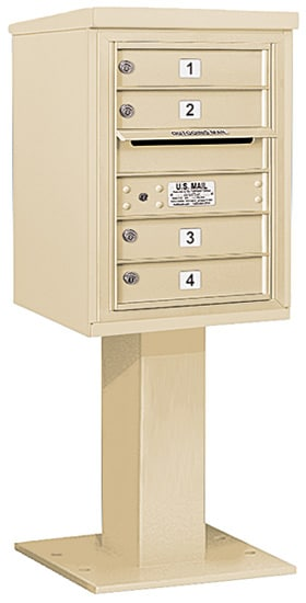 3406S04 Salsbury Commercial 4C Pedestal Mailboxes