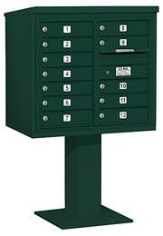Salsbury 4C Pedestal 3407D-12 Green