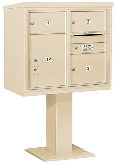 3407D-03 Salsbury 4C Pedestal Mailboxes Product Image