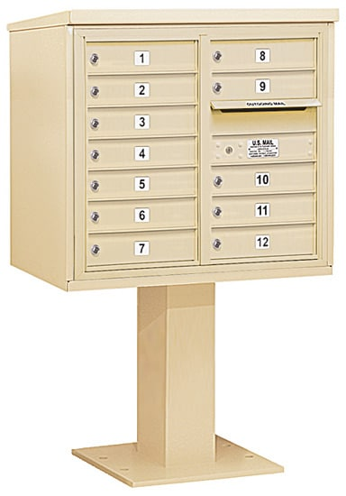 3407D-12 Salsbury 4C Pedestal Mailboxes Product Image