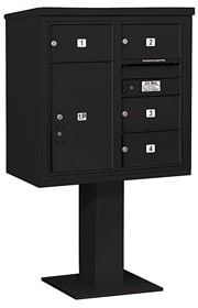 Salsbury 4C Pedestal 3408D-04 Black