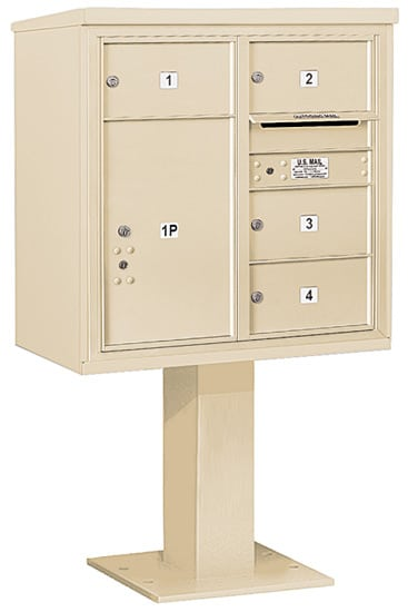 3408D-04 Salsbury 4C Pedestal Mailboxes Product Image