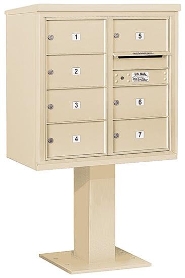 3408D07 Salsbury Commercial 4C Pedestal Mailboxes