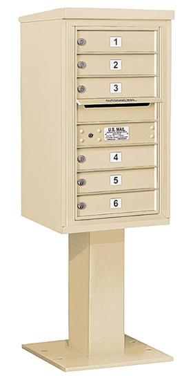 3408S-06 Salsbury 4C Pedestal Mailboxes