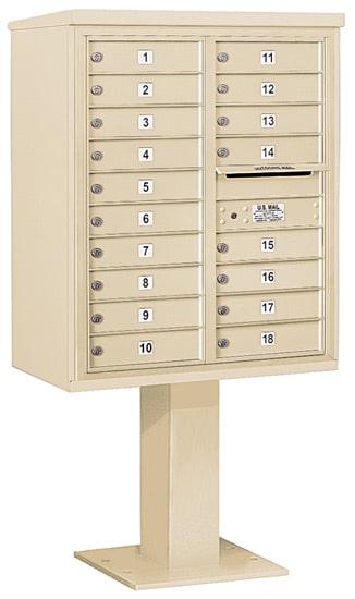 3410D18 Salsbury Commercial 4C Pedestal Mailboxes