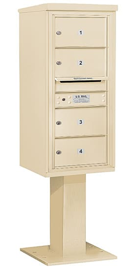 3410S04 Salsbury Commercial 4C Pedestal Mailboxes