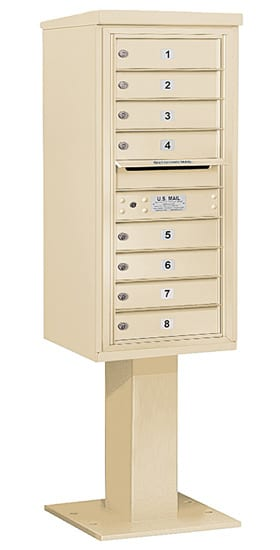 3410S08 Salsbury Commercial 4C Pedestal Mailboxes