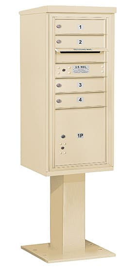 3410SA04 Salsbury Commercial 4C Pedestal Mailboxes