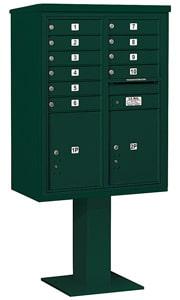 Salsbury 4C Pedestal 3411D-10 Green