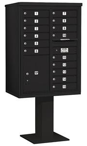 Salsbury 4C Pedestal 3411D-15 Black