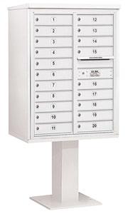 Salsbury 4C Pedestal 3411D-20 White