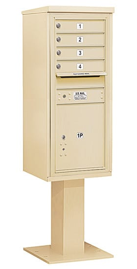 3411S-04 Salsbury 4C Pedestal Mailboxes