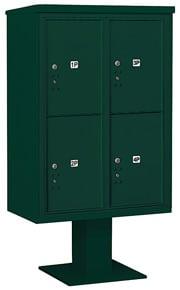 Salsbury 4C Pedestal 3412D-4P Green