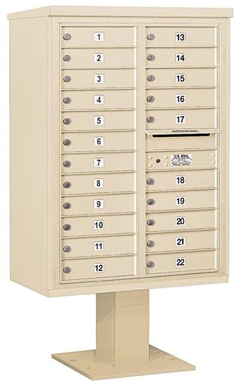 3412D-22 Salsbury 4C Pedestal Mailboxes
