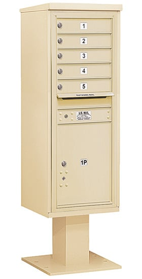 3413S05 Salsbury Commercial 4C Pedestal Mailboxes
