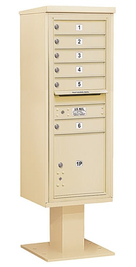 3413S06 Salsbury Commercial 4C Pedestal Mailboxes