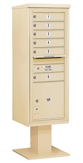 3413S-06 Salsbury 4C Pedestal Mailboxes