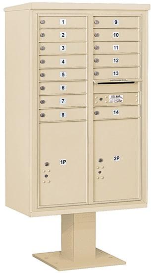 3414D14 Salsbury Commercial 4C Pedestal Mailboxes