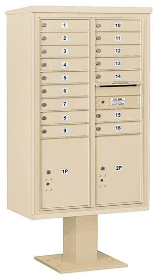 3414D16 Salsbury Commercial 4C Pedestal Mailboxes