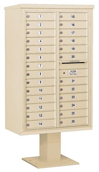 3414D26 Salsbury Commercial 4C Pedestal Mailboxes