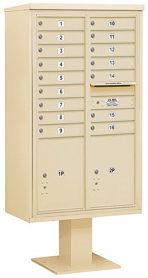 3415D-16 Salsbury 4C Pedestal Mailboxes