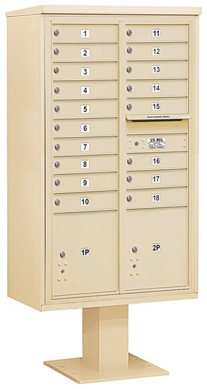 3415D-18 Salsbury 4C Pedestal Mailboxes