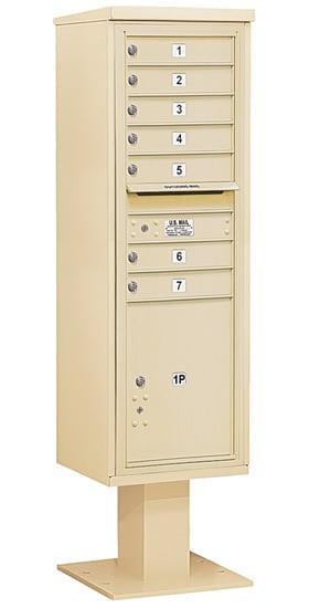 3415S07 Salsbury Commercial 4C Pedestal Mailboxes