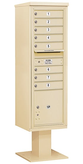 3415S08 Salsbury Commercial 4C Pedestal Mailboxes