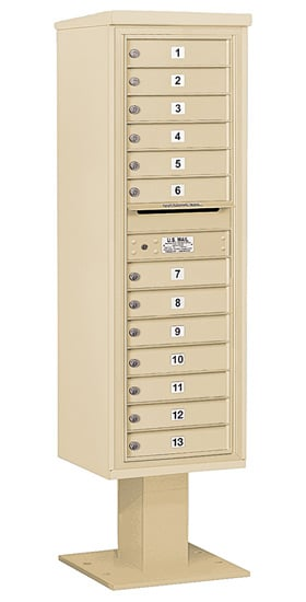 3415S13 Salsbury Commercial 4C Pedestal Mailboxes