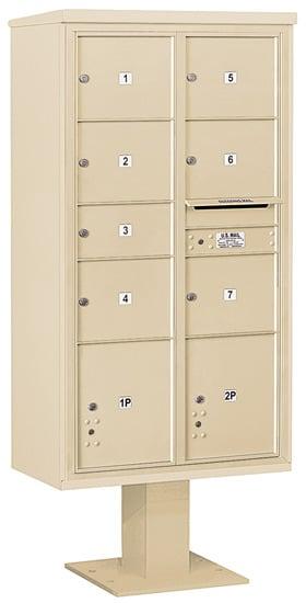 3416D07 Salsbury Commercial 4C Pedestal Mailboxes