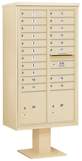 3416D19 Salsbury Commercial 4C Pedestal Mailboxes