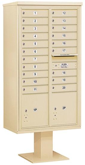 3416D20 Salsbury Commercial 4C Pedestal Mailboxes