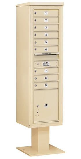 3416S09 Salsbury Commercial 4C Pedestal Mailboxes
