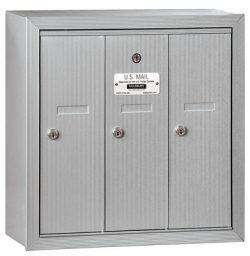 Salsbury 3 Door Surface Vertical Mailbox