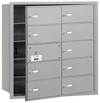 10 Door Front Loading 3610 Salsbury 4B+ Horizontal Mailboxes