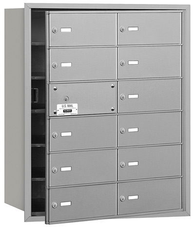 12 Door Front Loading 3612 Salsbury 4B+ Horizontal Mailboxes