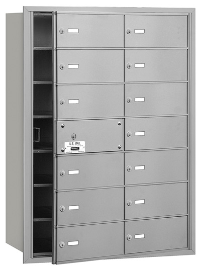 14 Door Front Loading 3614 Salsbury 4B+ Horizontal Mailboxes