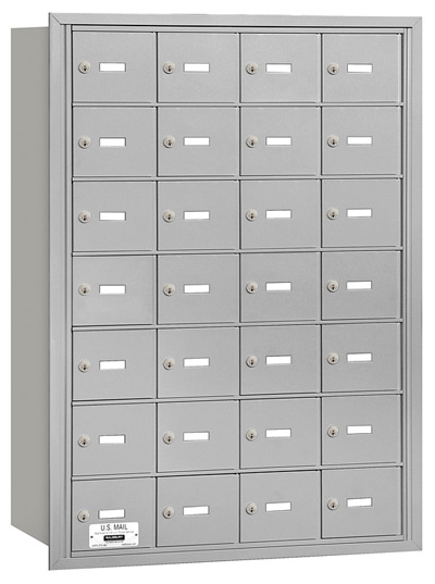3628 Rear Loading Salsbury Horizontal Mailboxes